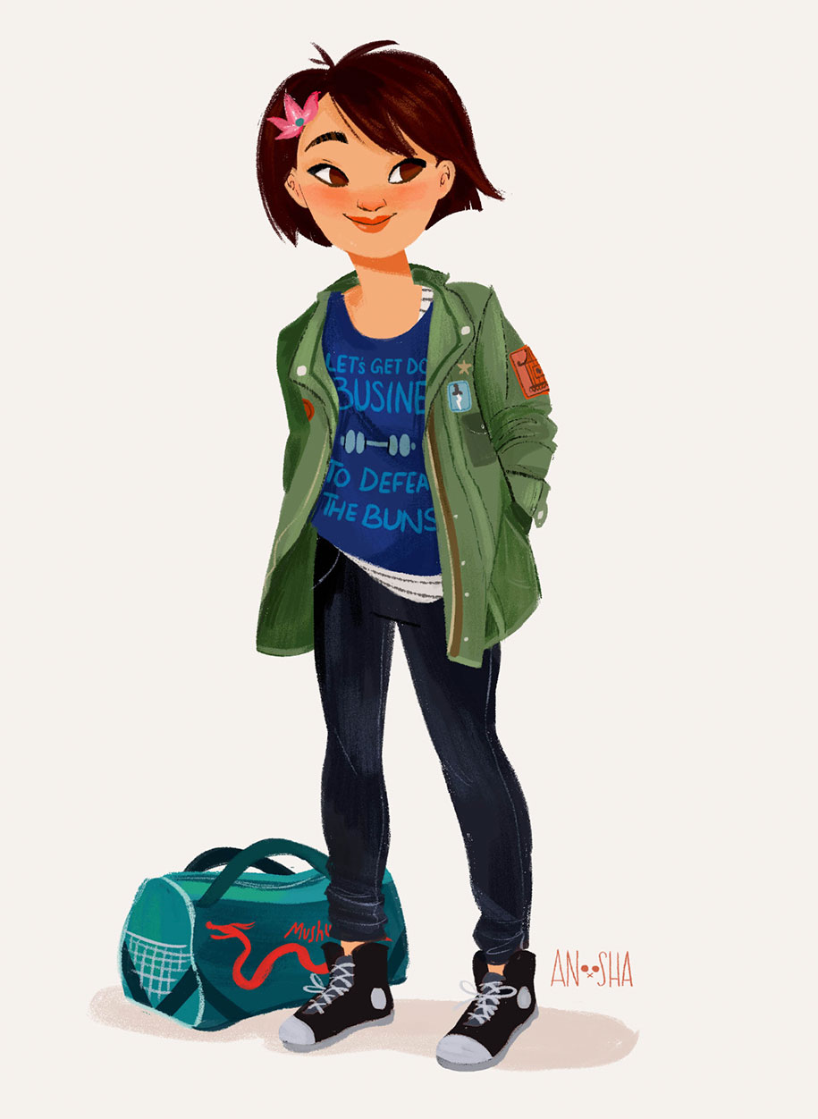 illustrator-creates-images-of-disney-princesses-as-modern-day-young-adults-6