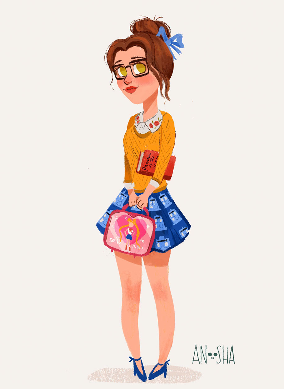 illustrator-creates-images-of-disney-princesses-as-modern-day-young-adults-8