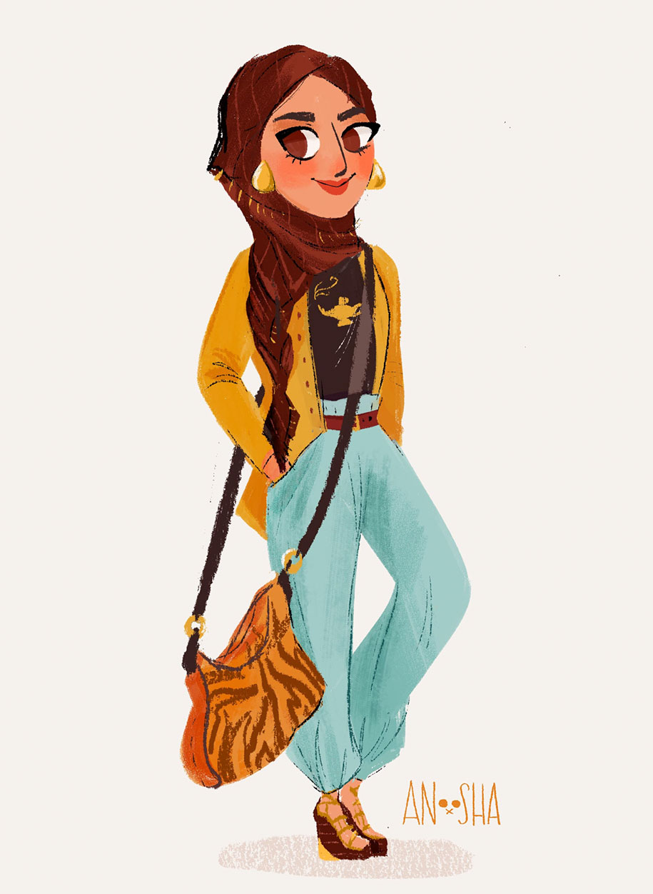 illustrator-creates-images-of-disney-princesses-as-modern-day-young-adults-9