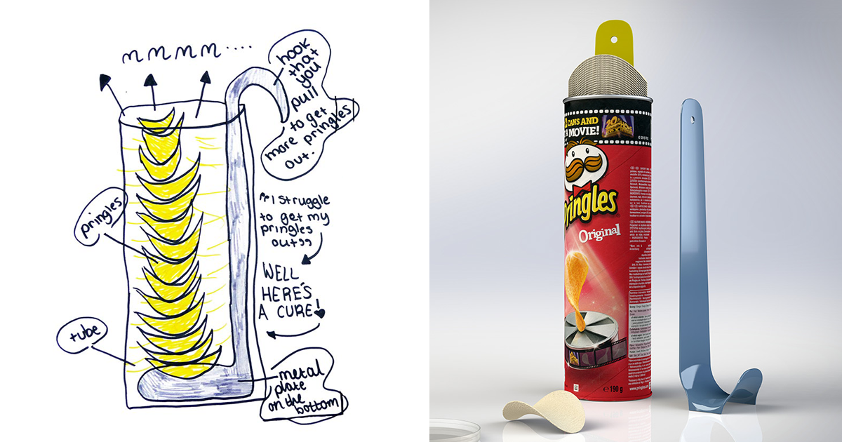 Kids Invention Drawings Turned Into Usable Products