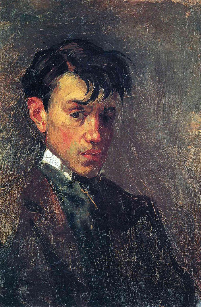 painting-self-portrait-style-evolution-pablo-picasso-1