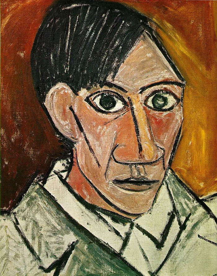painting-self-portrait-style-evolution-pablo-picasso-11