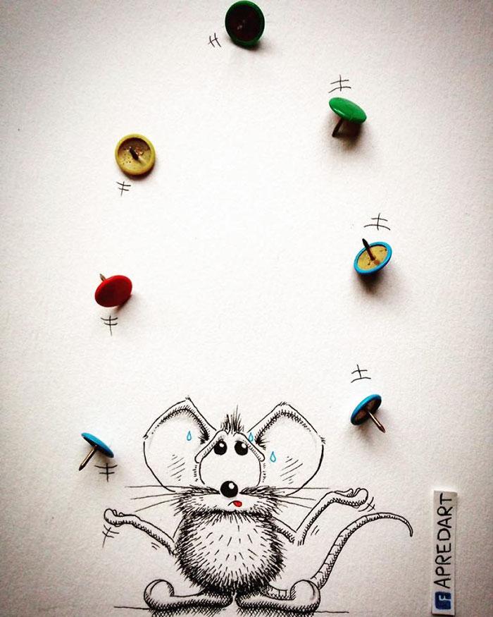 pencil-drawings-mouse-adventures-rikiki-loic-apredart-16