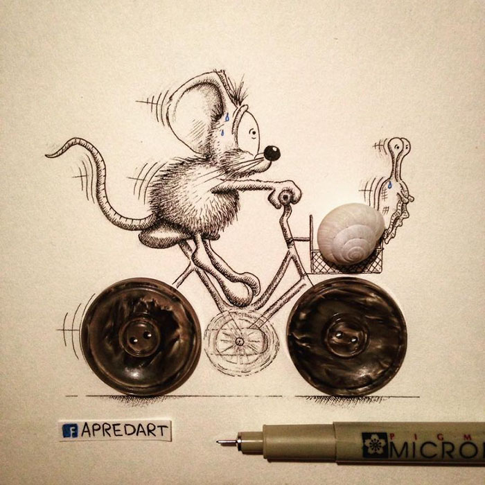 pencil-drawings-mouse-adventures-rikiki-loic-apredart-20