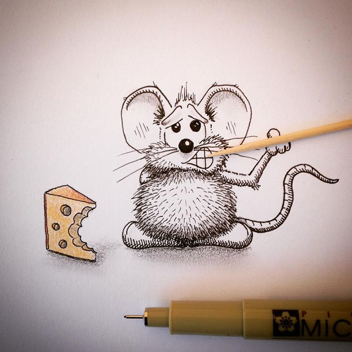 pencil-drawings-mouse-adventures-rikiki-loic-apredart-23