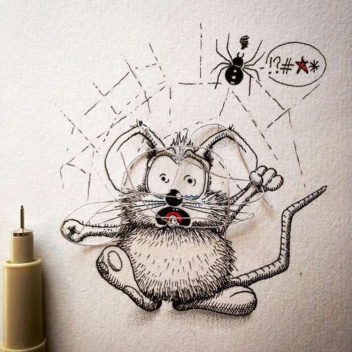 pencil-drawings-mouse-adventures-rikiki-loic-apredart-27
