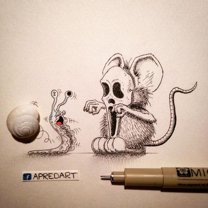 pencil-drawings-mouse-adventures-rikiki-loic-apredart-4