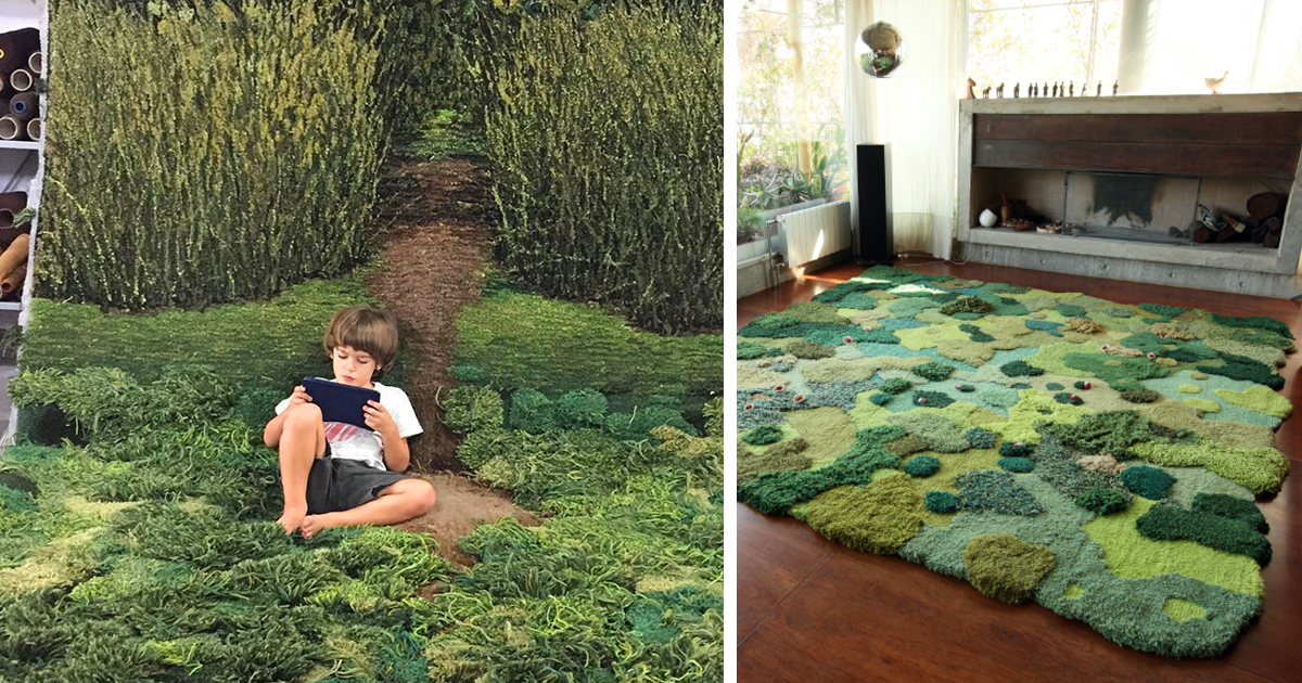 Unique Wool Rugs That Bring Soft Moss And Gentle Meadows