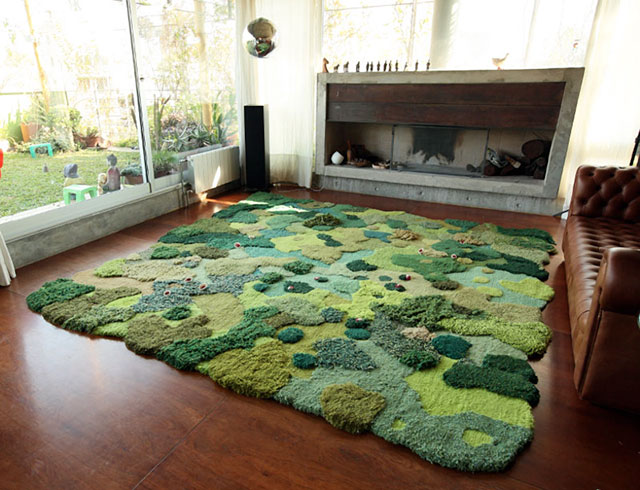 Unique Wool Rugs That Bring Soft Moss And Gentle Meadows Into Your Living Room