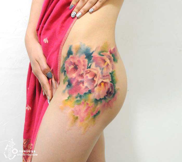 watercolor-painting-tattoo-on-skin-7