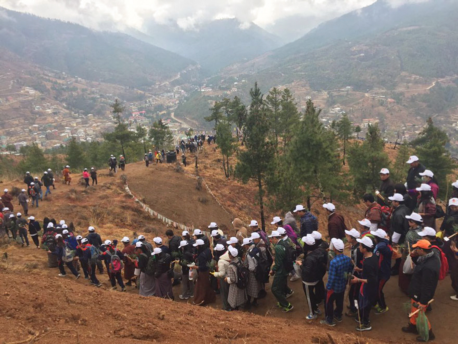 birth-new-prince-celebrated-planting-thousands-trees-bhutan-3