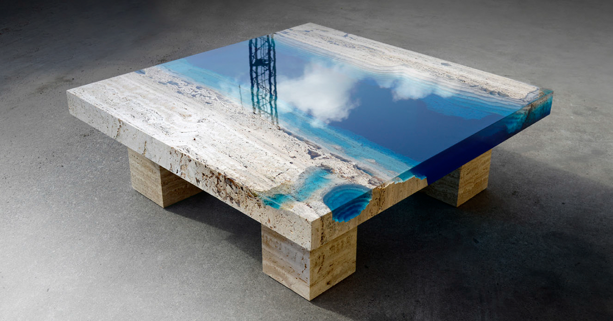 New Handmade Lagoon Tables Made From Resin And Cut