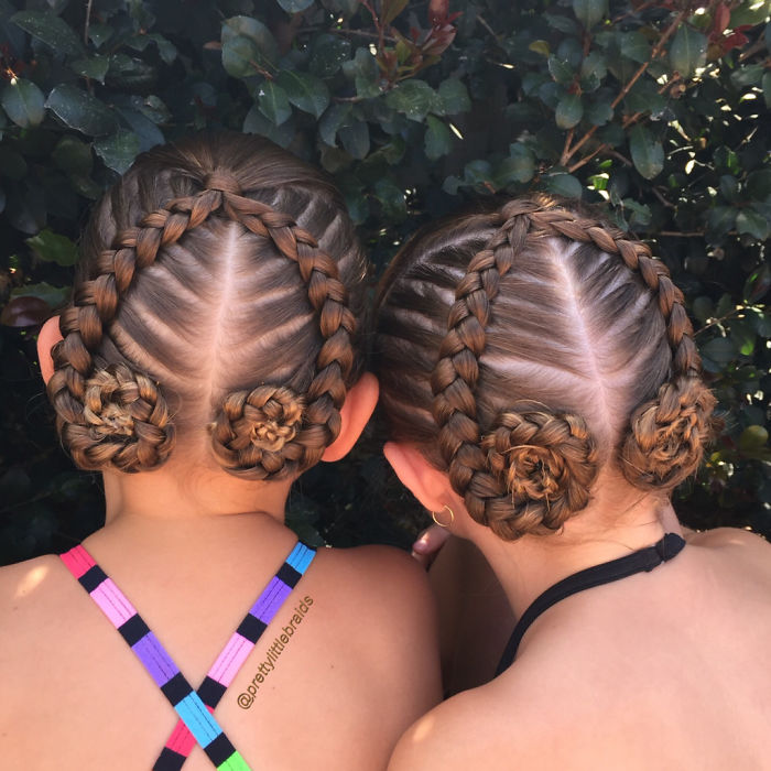 Mom Spends Every Morning Making Incredible Braids For Her
