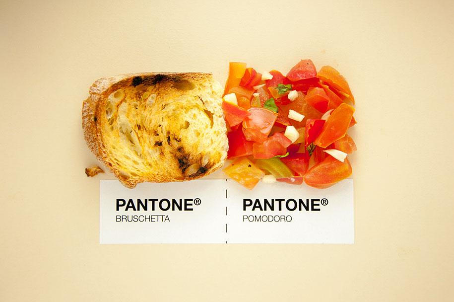 Designers put italian food in pantone color system for Cuisine designer italien