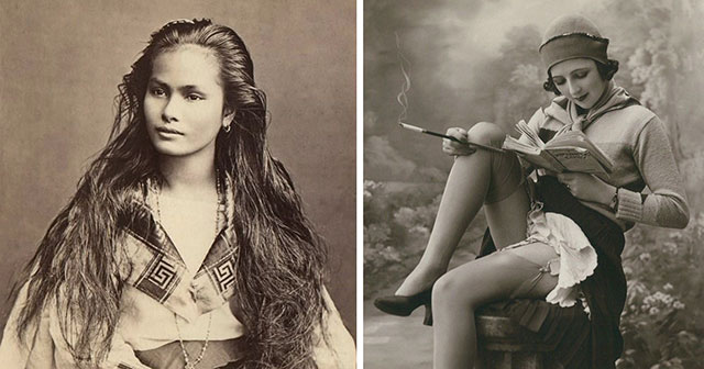 Women Beauty From Around The World In 100 Year Old Postcards