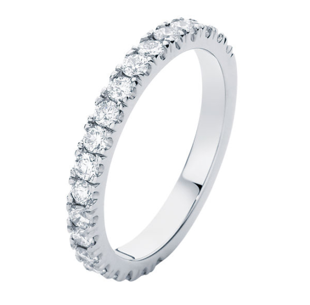 the novo a traditional micro claw diamond wedding ring that is elegant and timeless in style - Wedding Ring Ideas