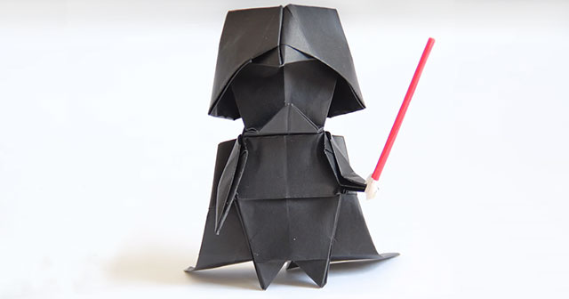 Making Darth Vader A Step By Origami Tutorial