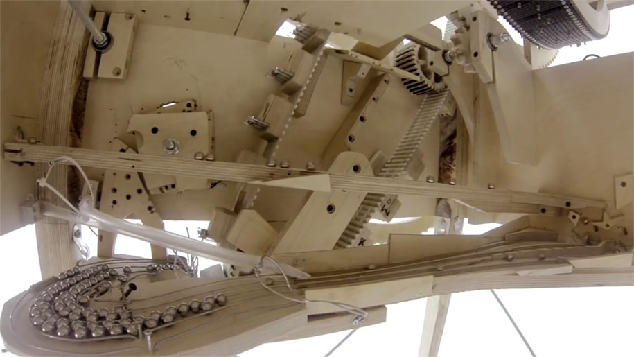 Incredibly Complicated Musical Instrument That Runs On