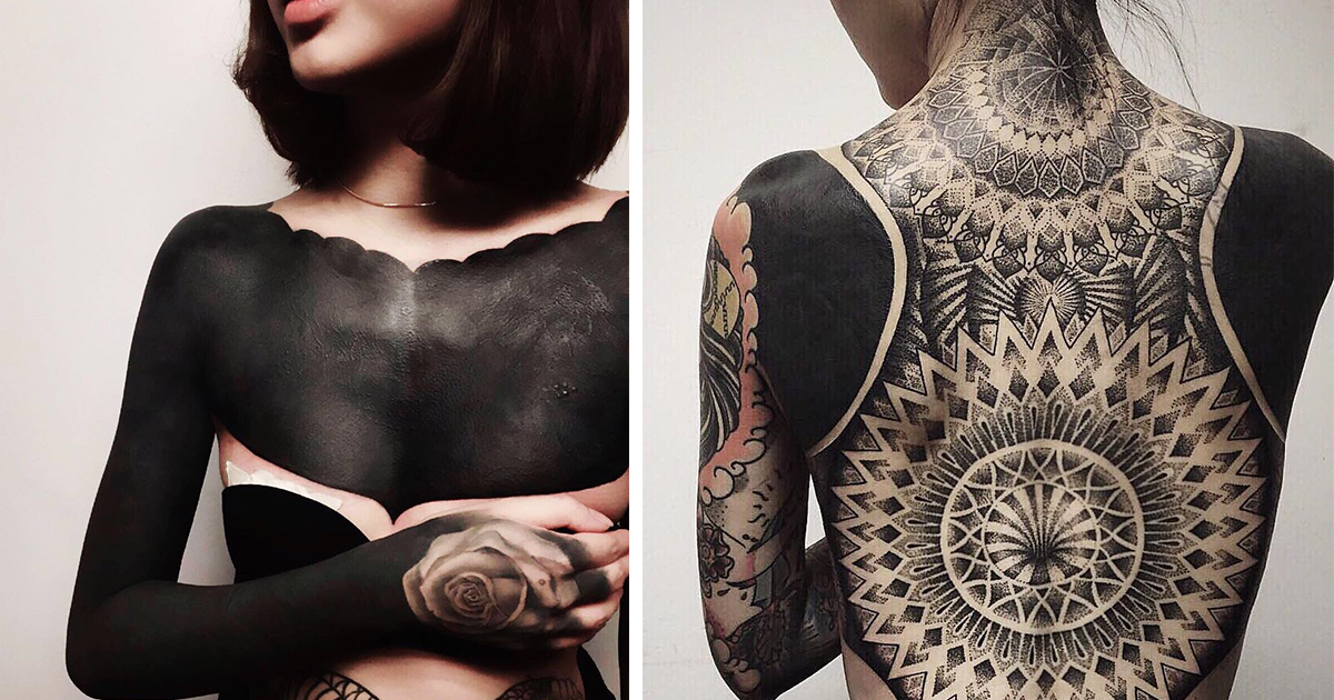Blackout Tattoos Is The New Trend From Singapore