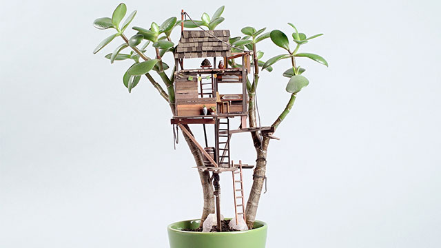 Miniature Tree House miniature tree houses for plants is perfect home for fairies