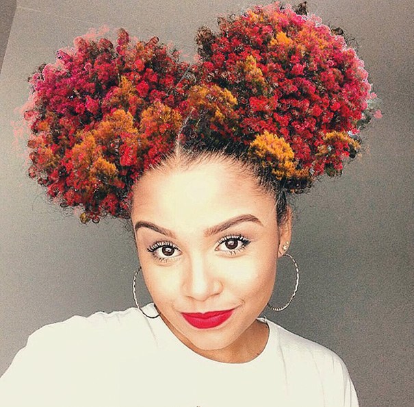 black girl long hairstyles : Artist Turns Afro Hairstyles Into Flowery Galaxies To Remind Black ...