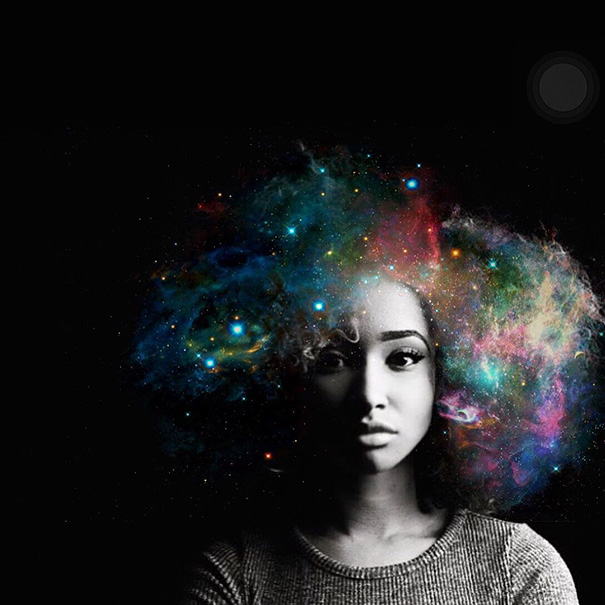Artist Turns Afro Hairstyles Into Flowery Galaxies To