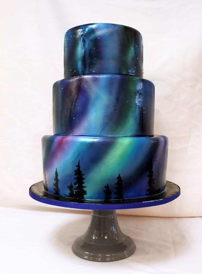 Mirror Wedding Cake