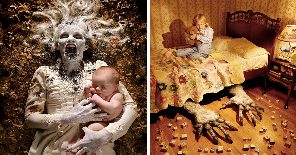 Photographer Dad Does Horror Photoshoots With His Daughters