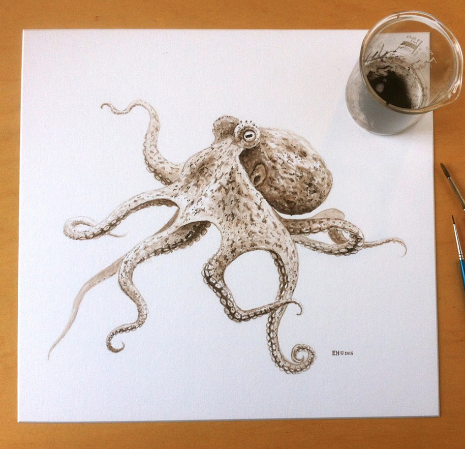 octopus-painting-using-ancient-ink-from-fossil-esther-van-hulsen-2