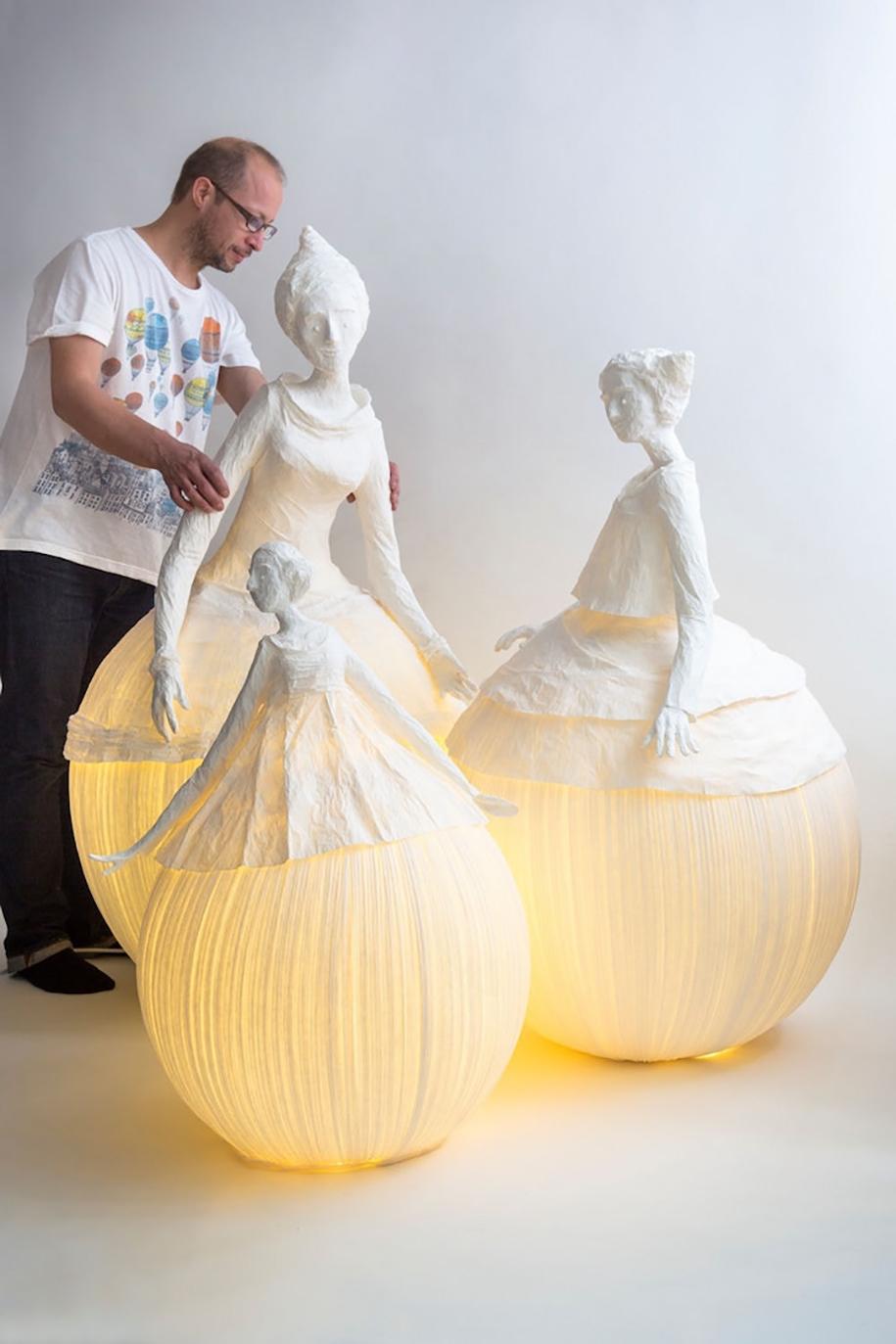 Paper Lamps Sculpture Papier A Etres 6