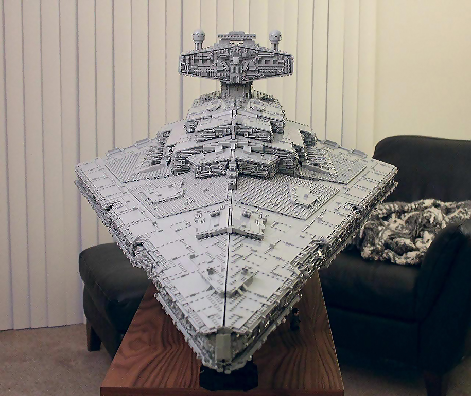 Guy Builds Lego Star Destroyer Ship With Fully Equipped