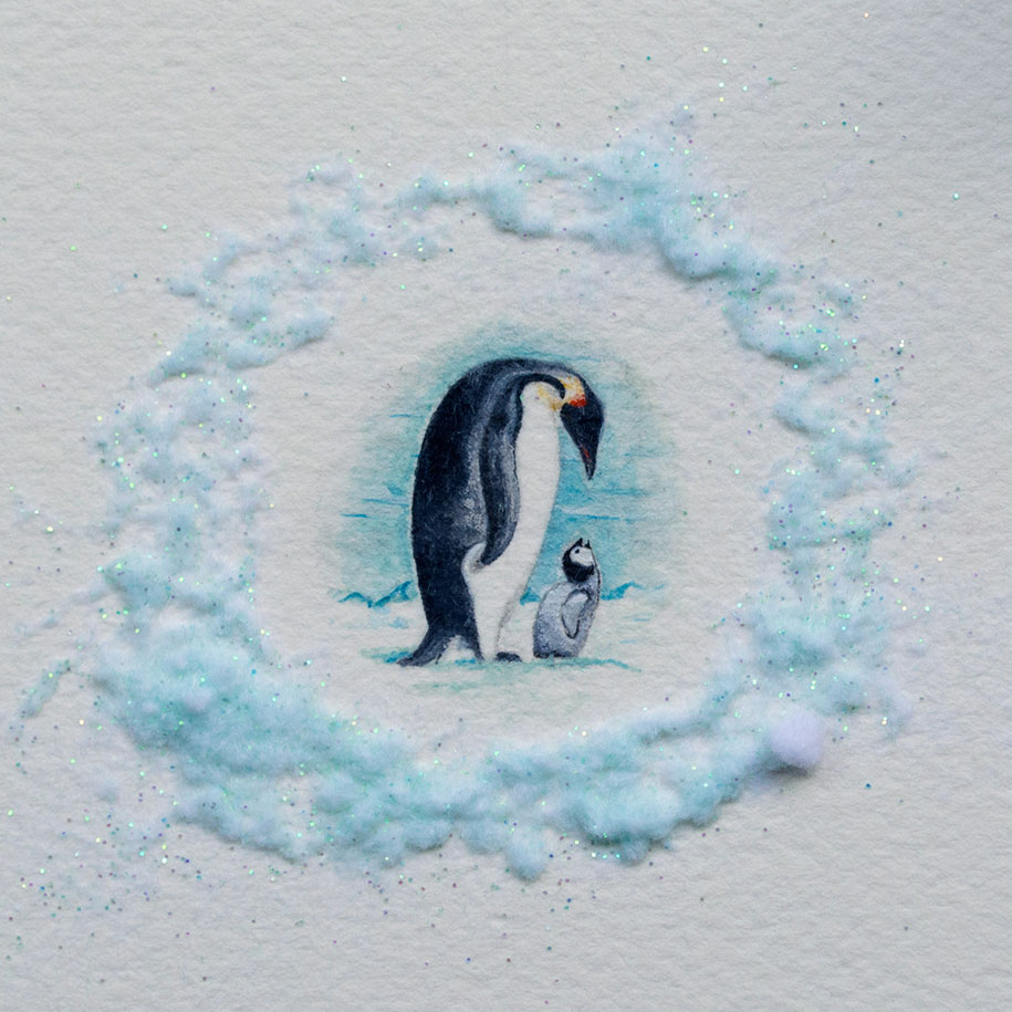 Adorable miniatures by a 20 year old watercolor painter for Cute watercolor paintings