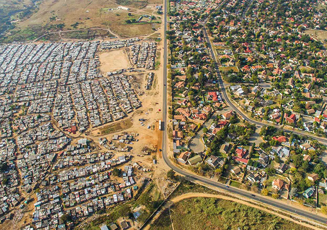 Lines Dividing Rich And Poor Photographed With Drones | DeMilked