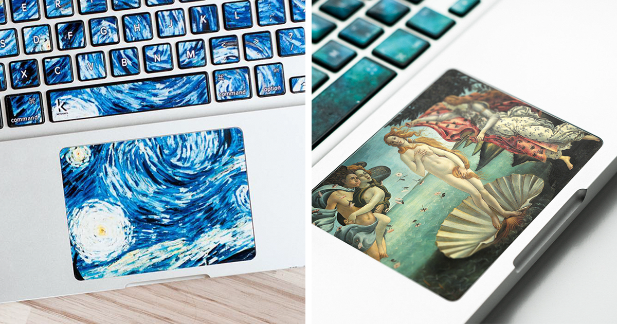 Keyboard Stickers Turn Laptops Into Iconic Paintings
