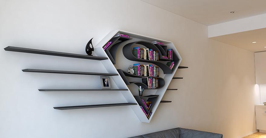 geeky-superhero-bookshelves-burak-dogan-4