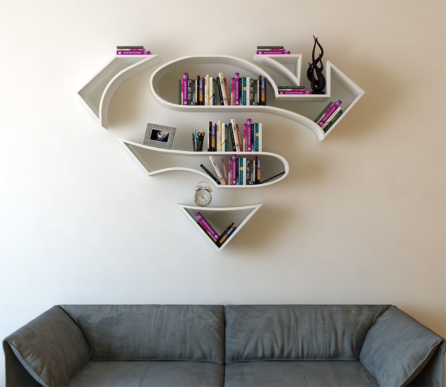 geeky-superhero-bookshelves-burak-dogan-7