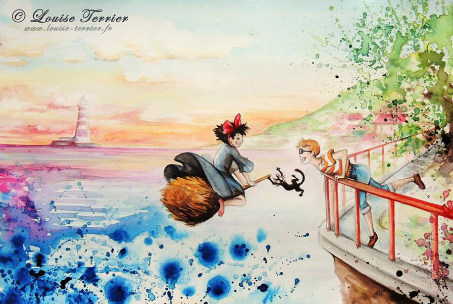 hayao-miyazaki-paintings-studio-ghibli-fan-art-louise-terrier-9