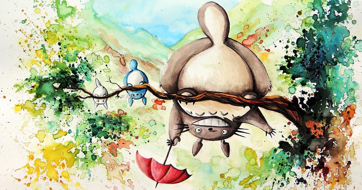 Hayao Miyazaki Paintings Studio Ghibli Fan Art Louise Terrier on Japanese Style Interior Design