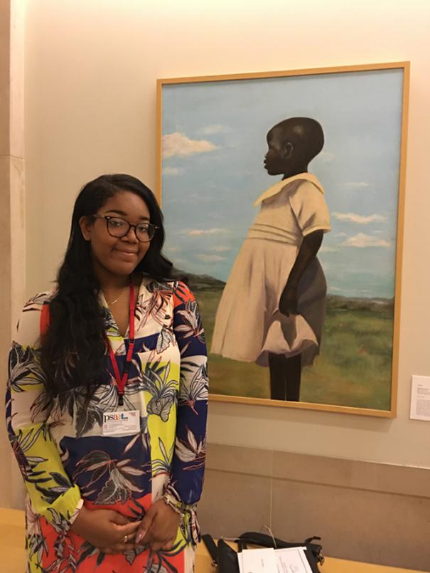 18 Year Old Cliffannie Forrester , Painting In Met Museum #art people