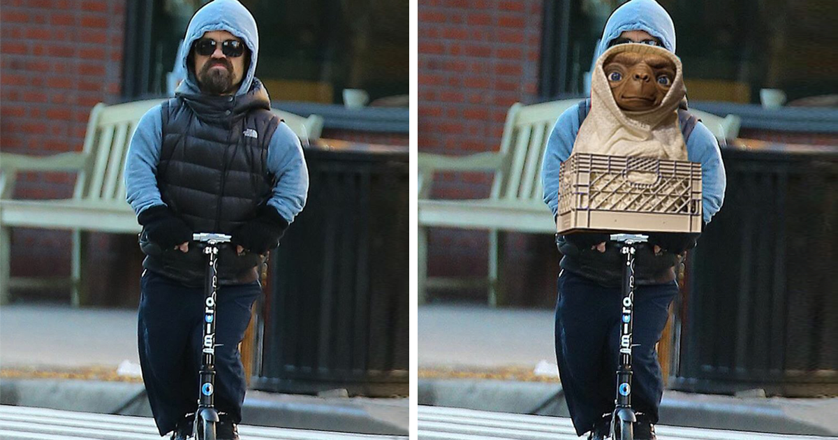 Tyrion Lannister Riding A Scooter Provokes New Photoshop Battle - Photo of peter dinklage riding a scooter sparks funniest photoshop battle ever