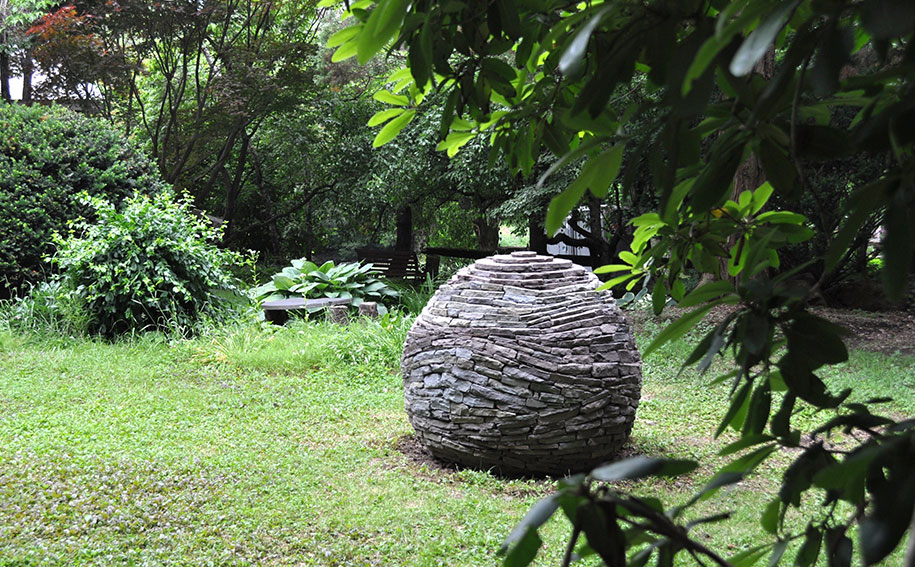 Stacked Dry Stone Garden Spheres Devin Devine 11