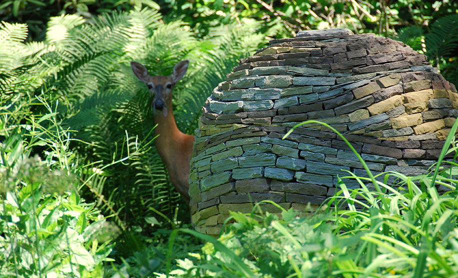 Stacked Dry Stone Garden Spheres Devin Devine 12