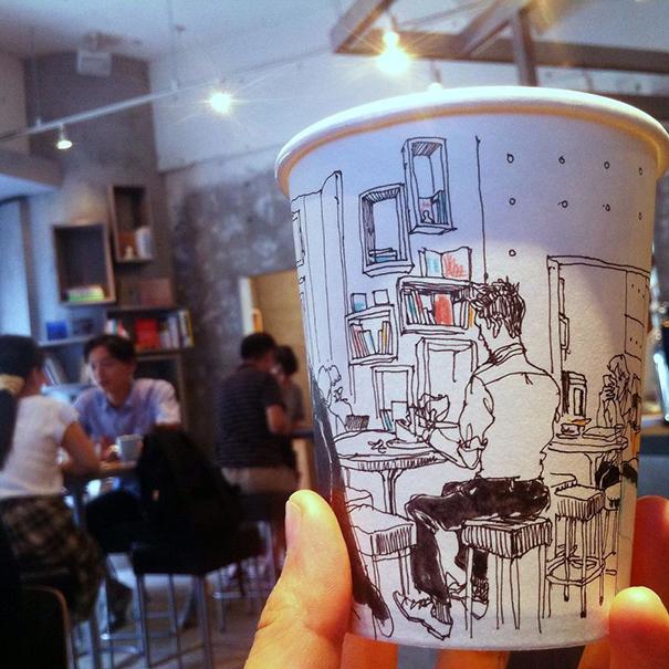 tokyo-life-illustrations-on-paper-cups-mariya-suzuki-japan-9