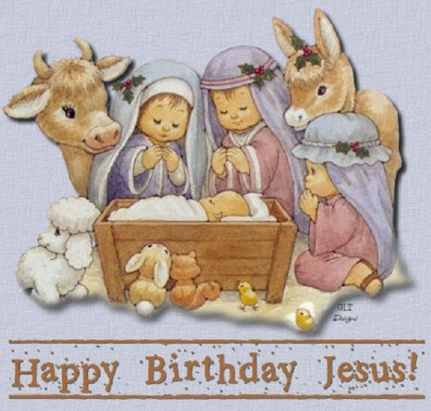 Say Happy Birthday to Mr. Jesus with gifts