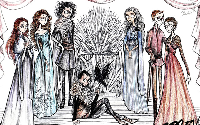 How Game Of Thrones Would Look If Tim Burton Was Making It