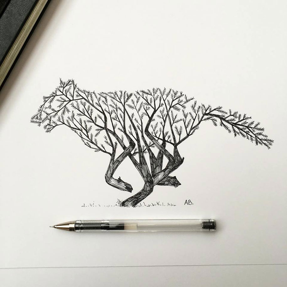 pen-ink-animal-trees-illustrations-alfred-basha-16