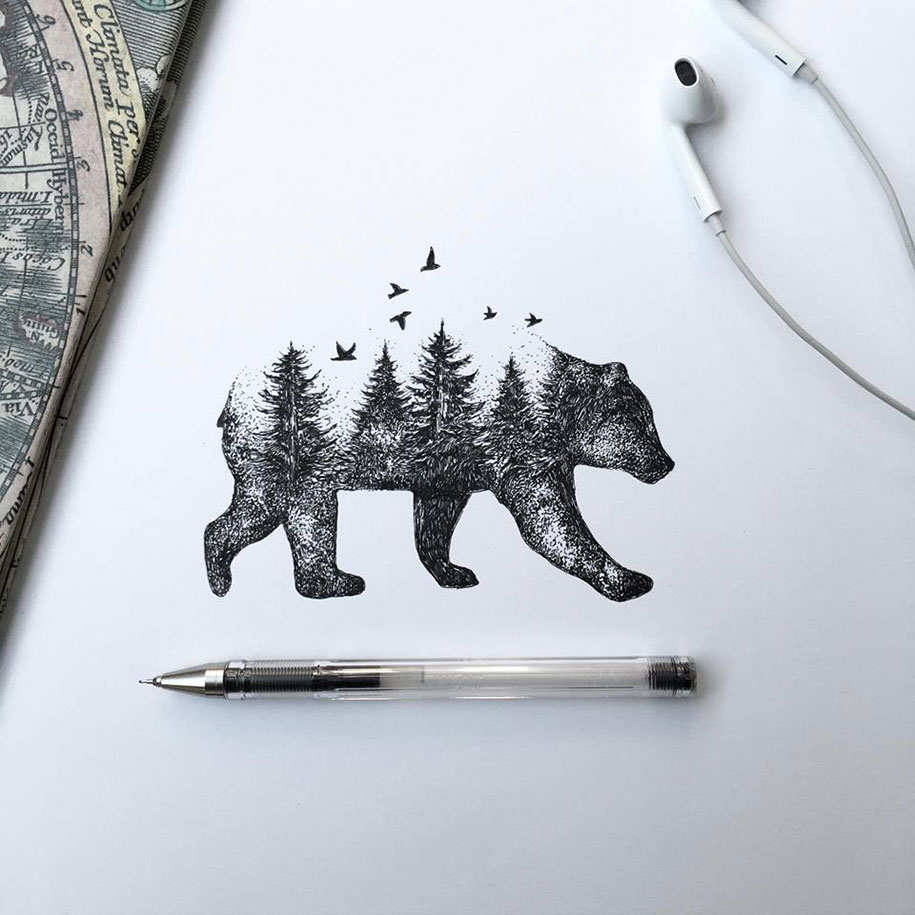 pen-ink-animal-trees-illustrations-alfred-basha-6