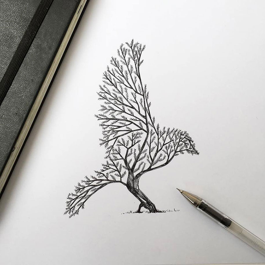 pen-ink-animal-trees-illustrations-alfred-basha-7