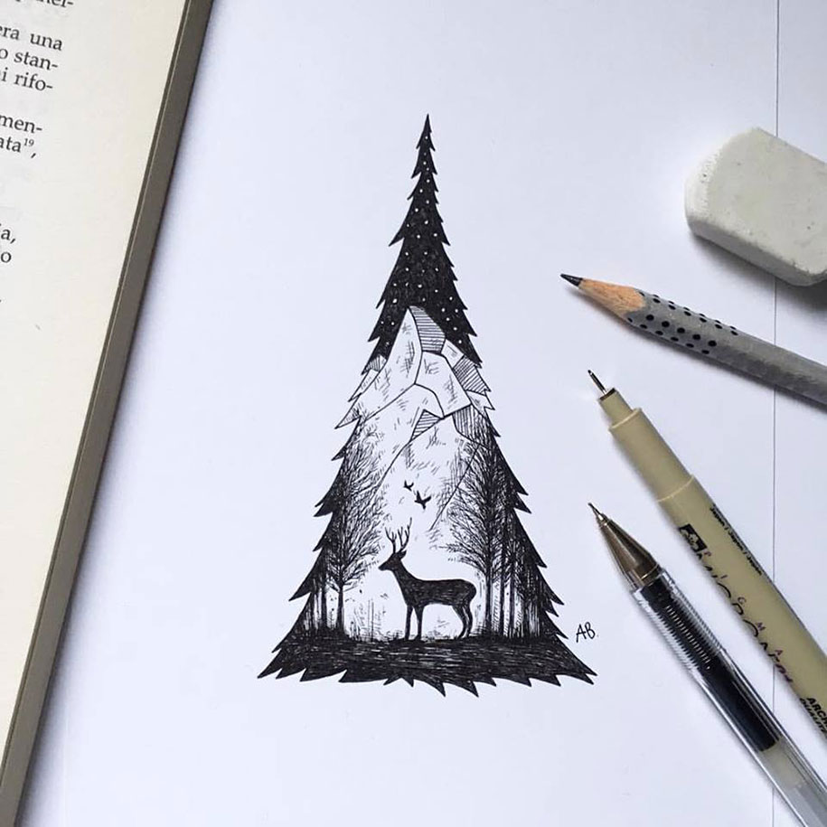 pen-ink-animal-trees-illustrations-alfred-basha-9