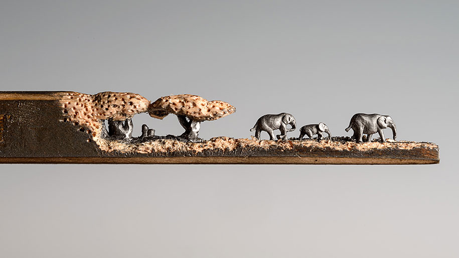 pencil-carving-graphite-art-elephant-walk-cindy-chinn-6
